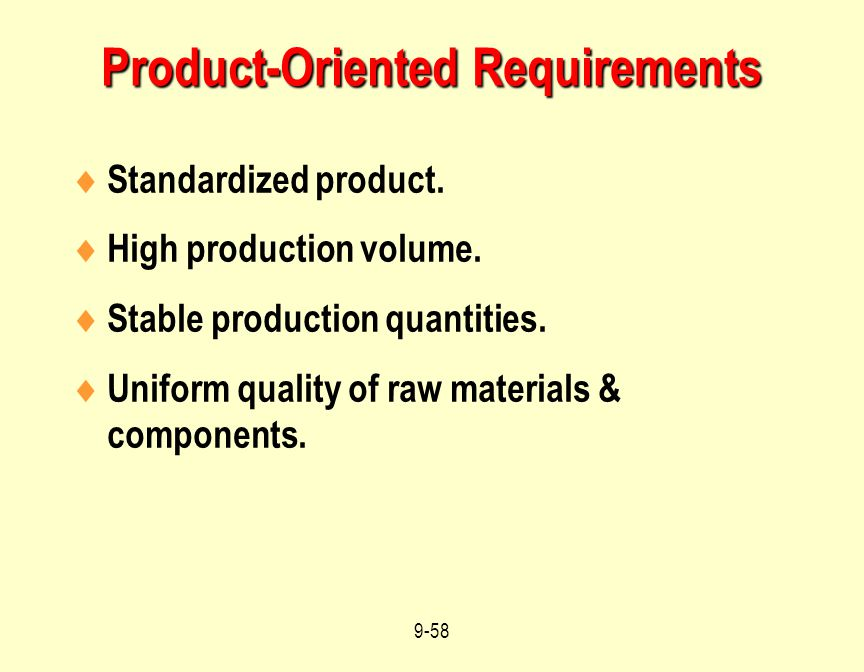 Product-Oriented Requirements
