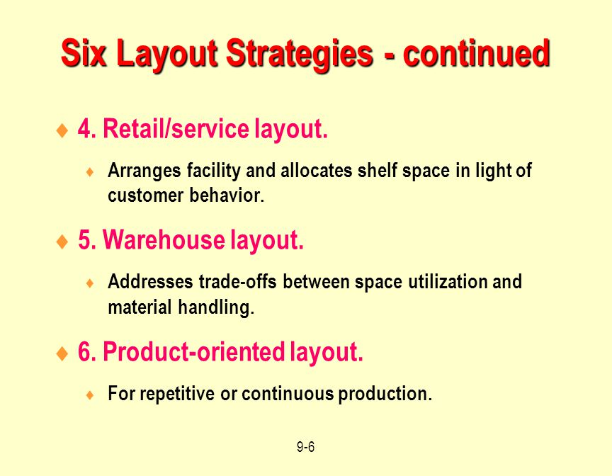 Six Layout Strategies - continued