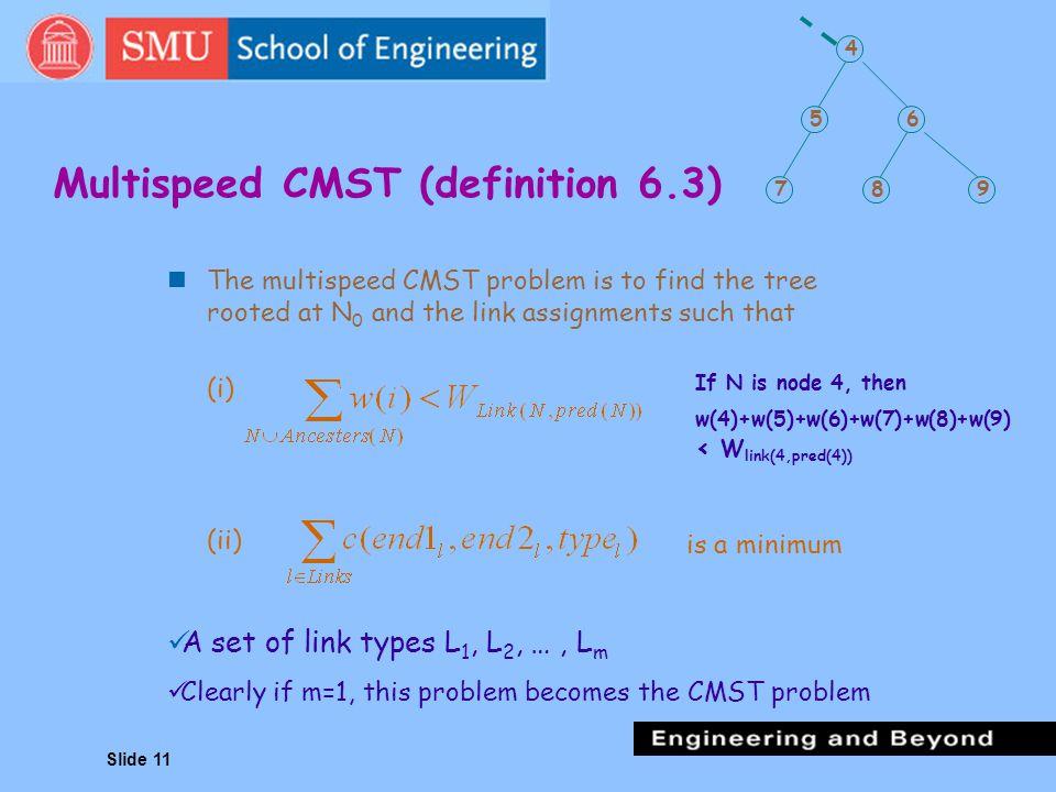 Multispeed CMST (definition 6.3)
