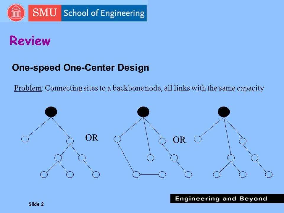 One-speed One-Center Design