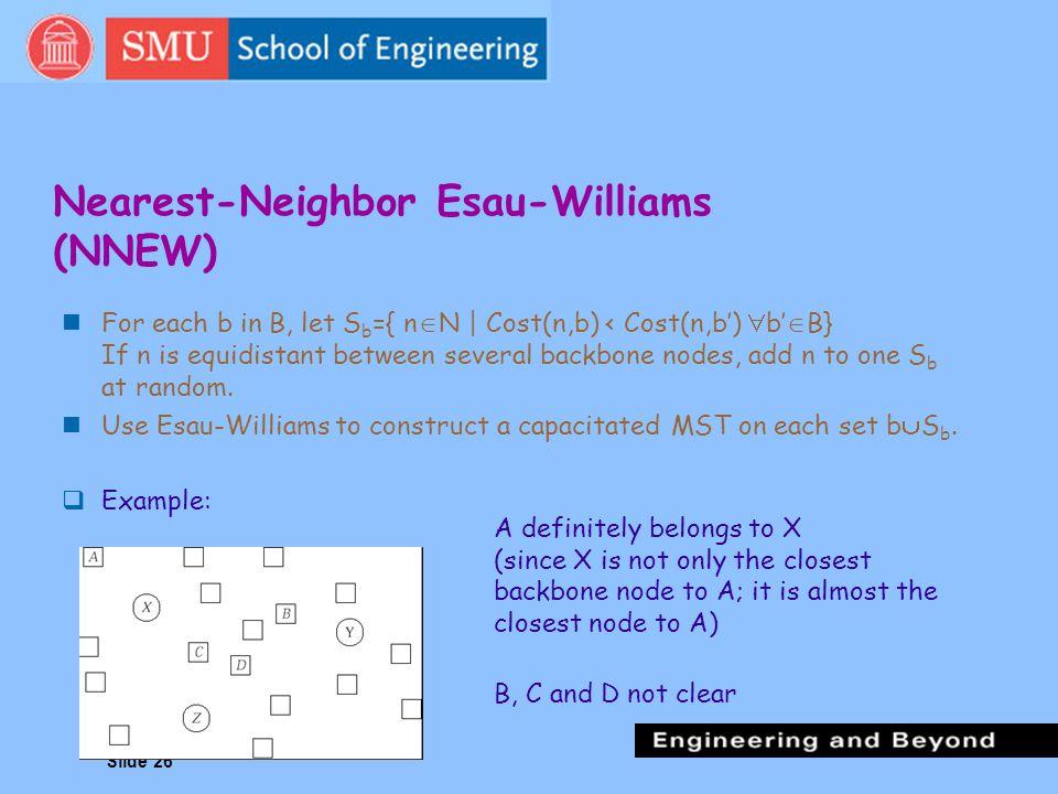 Nearest-Neighbor Esau-Williams (NNEW)