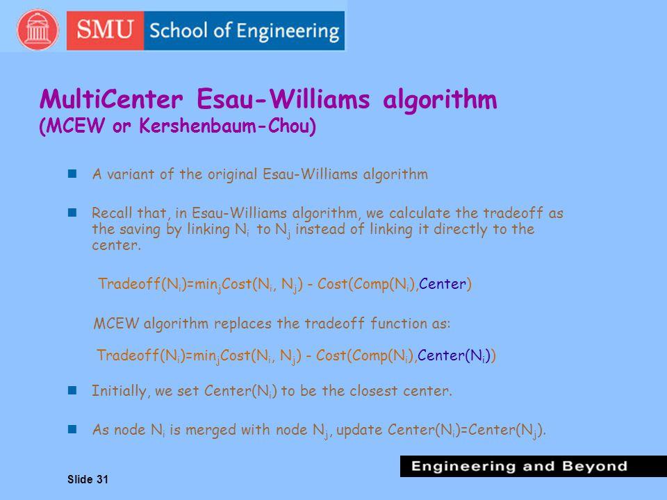 MultiCenter Esau-Williams algorithm (MCEW or Kershenbaum-Chou)