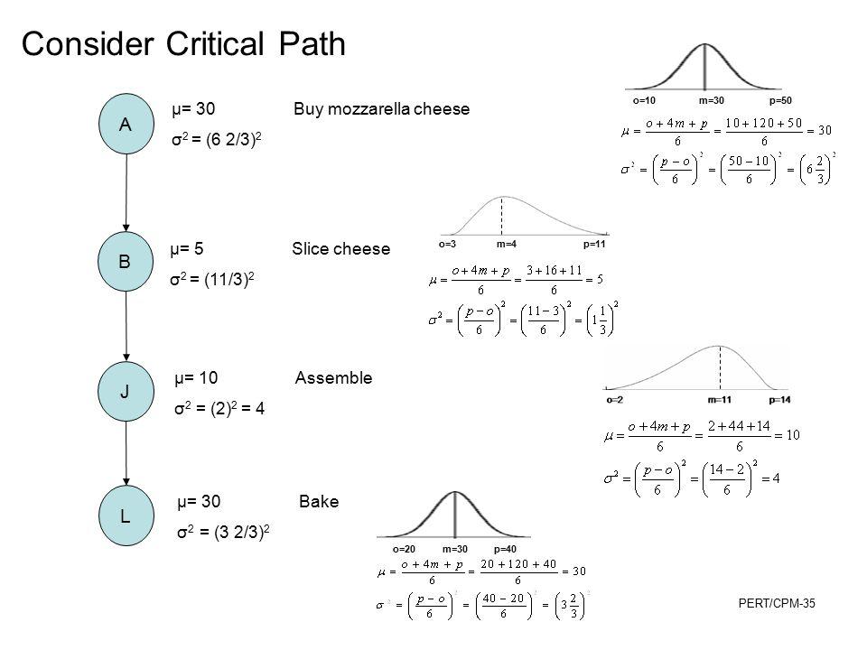 Consider Critical Path