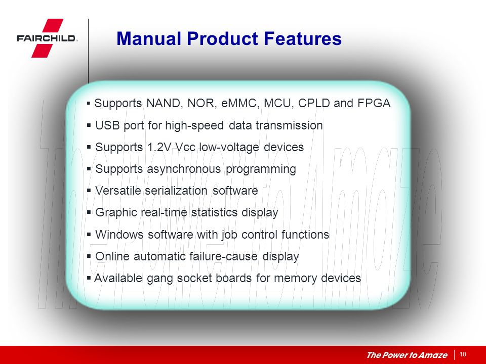Manual Product Features