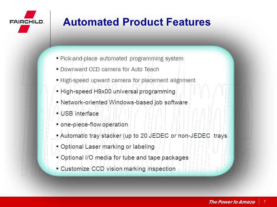 Automated Product Features