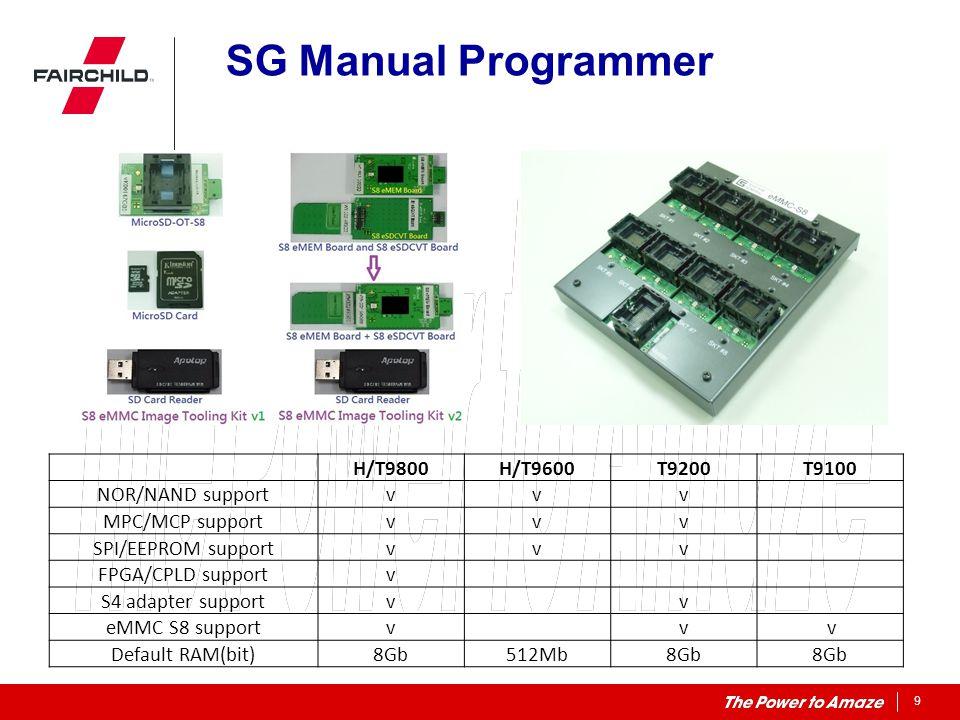 SG Manual Programmer H/T9800 H/T9600 T9200 T9100 NOR/NAND support v