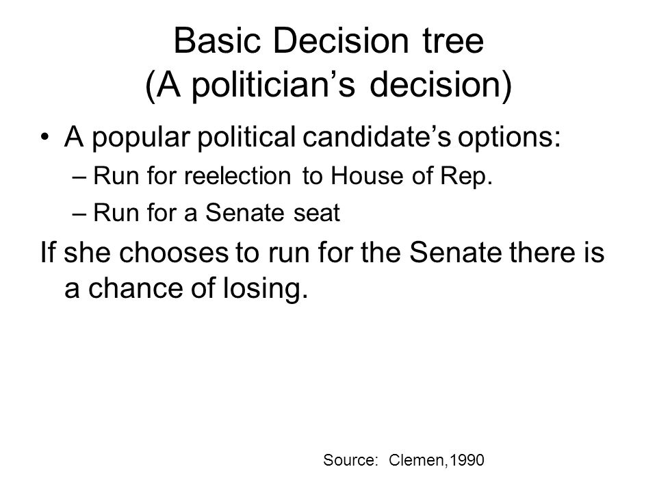 Basic Decision tree (A politician's decision)