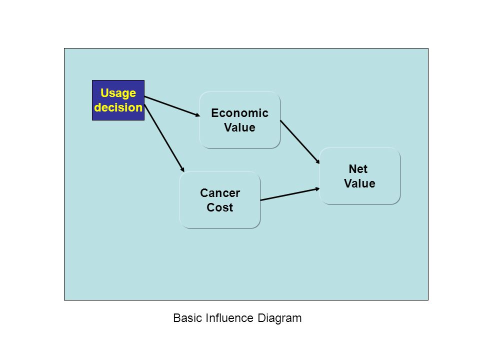 Usage decision Economic Value Net Value Cancer Cost Basic Influence Diagram