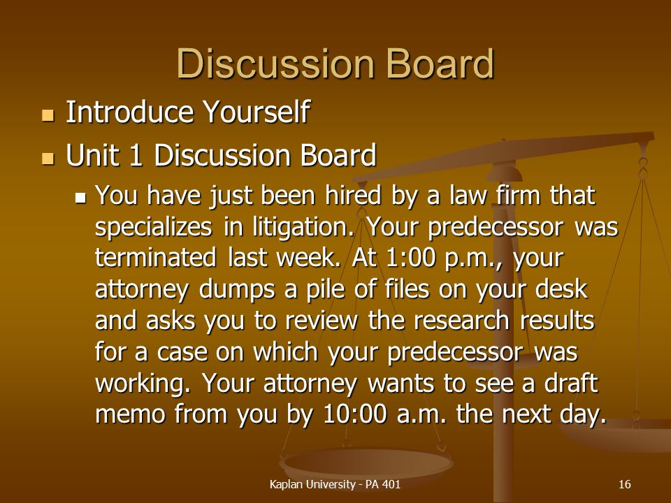 Discussion Board Introduce Yourself Unit 1 Discussion Board