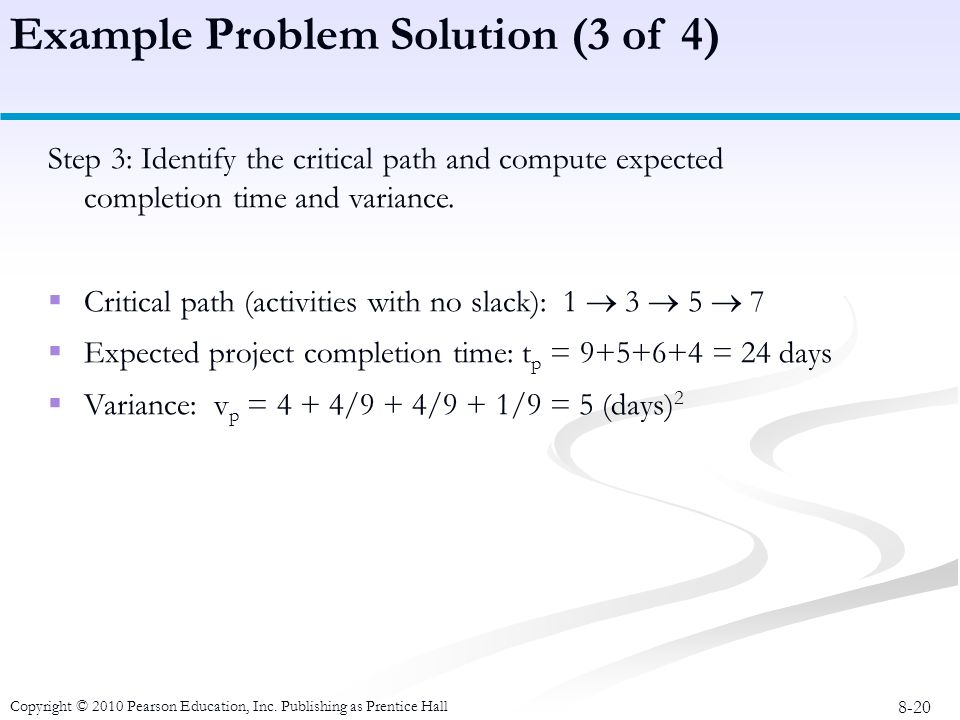 Example Problem Solution (3 of 4)
