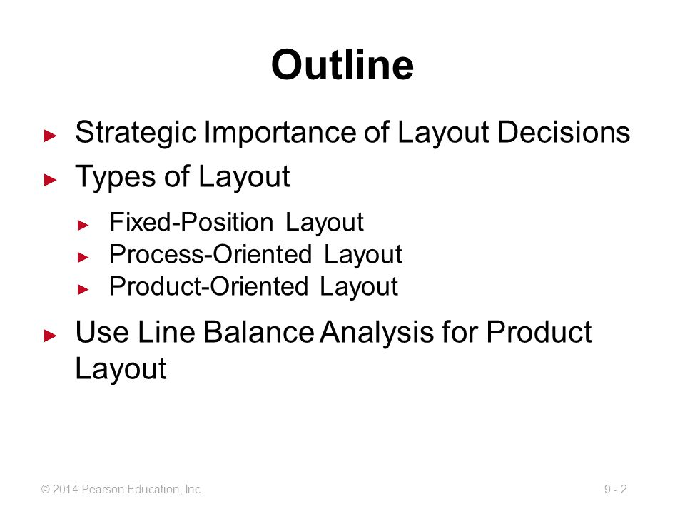 Outline Strategic Importance of Layout Decisions Types of Layout