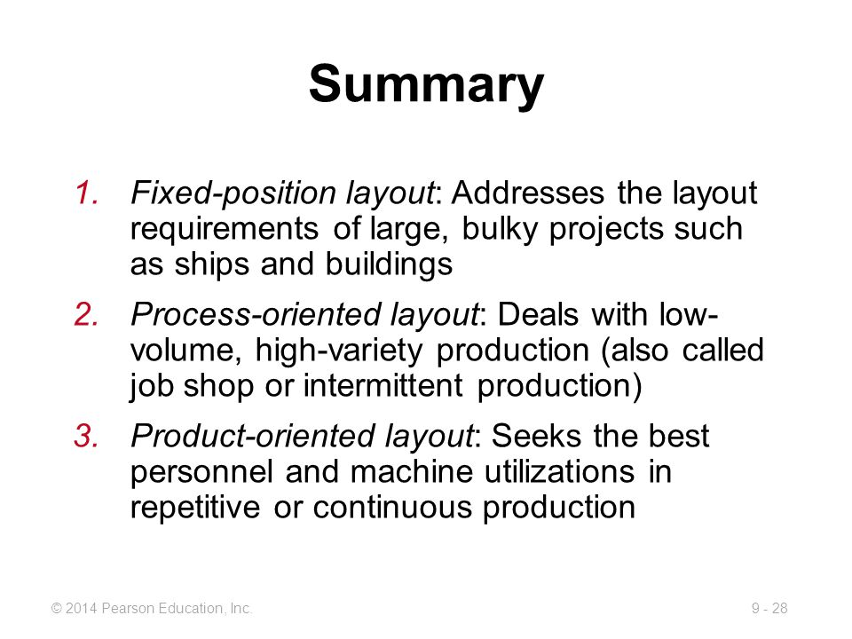 Summary Fixed-position layout: Addresses the layout requirements of large, bulky projects such as ships and buildings.