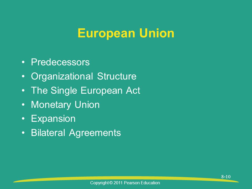 European Union Predecessors Organizational Structure