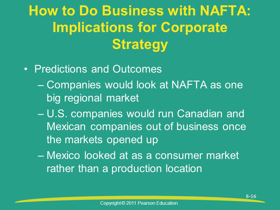 How to Do Business with NAFTA: Implications for Corporate Strategy