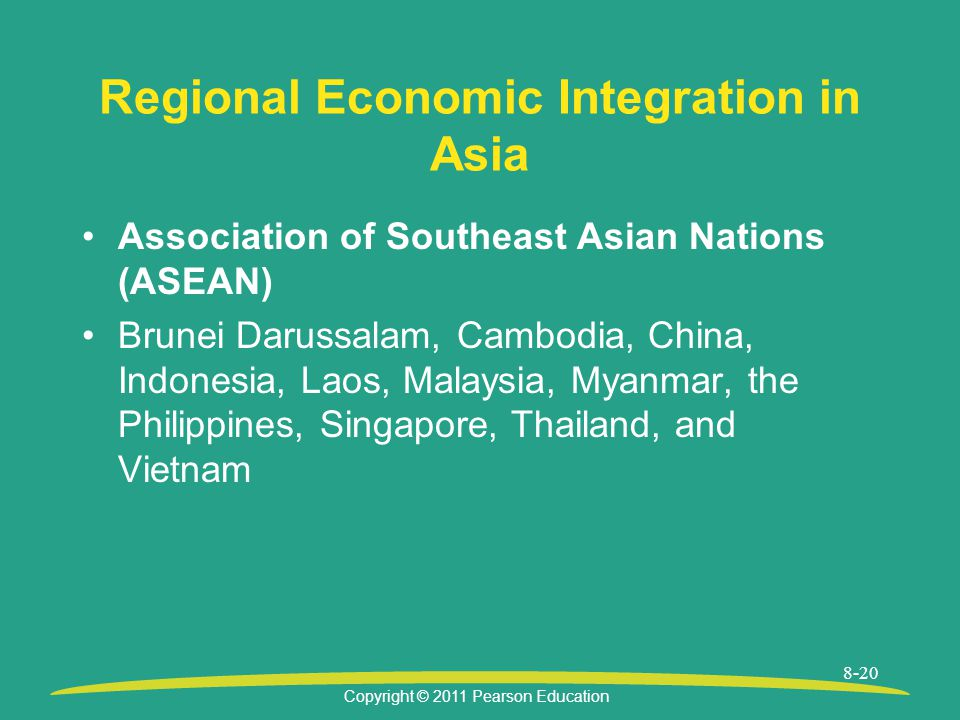 Regional Economic Integration in Asia