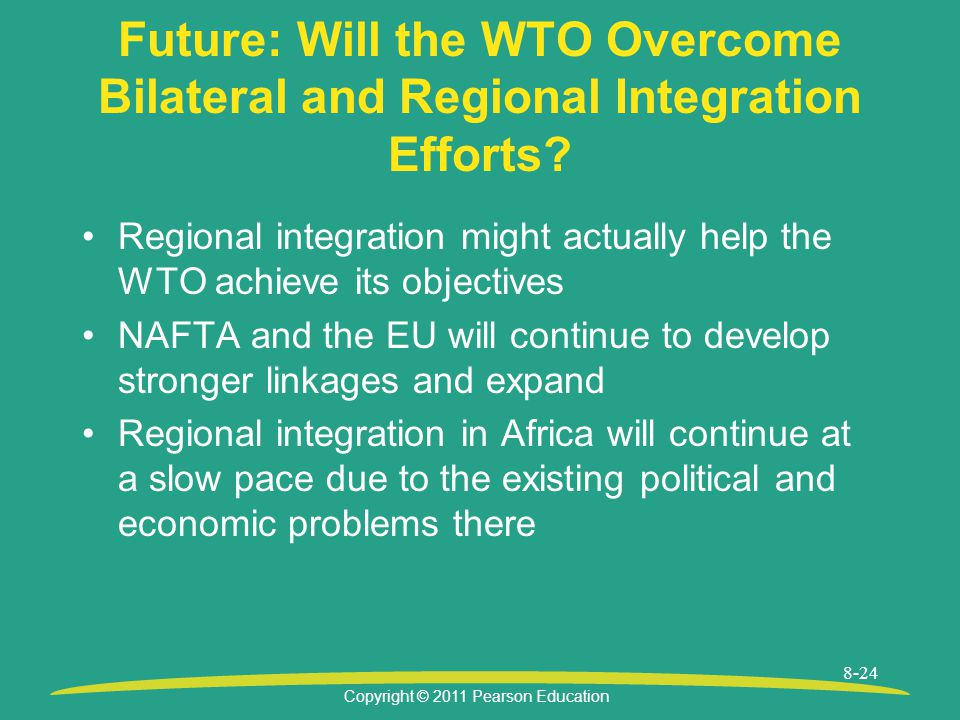 Future: Will the WTO Overcome Bilateral and Regional Integration Efforts