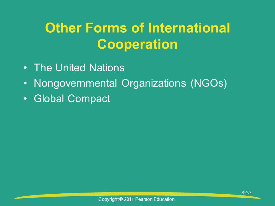 Other Forms of International Cooperation