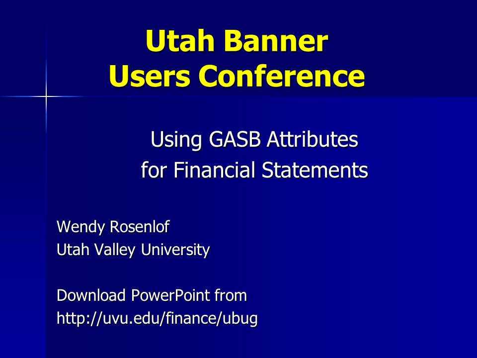 Utah Banner Users Conference