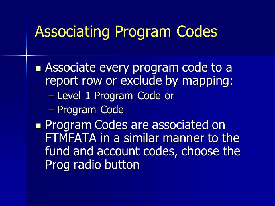 Associating Program Codes