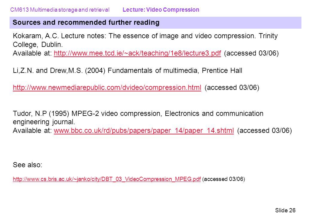 data compression techniques in multimedia pdf