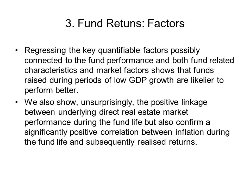 3. Fund Retuns: Factors