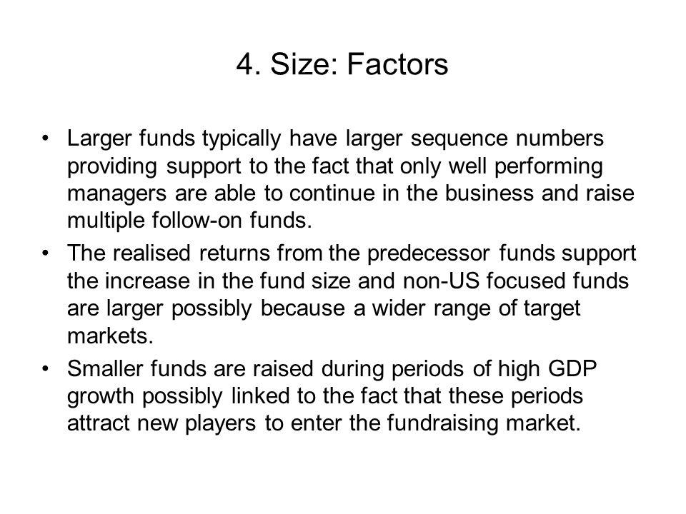 4. Size: Factors