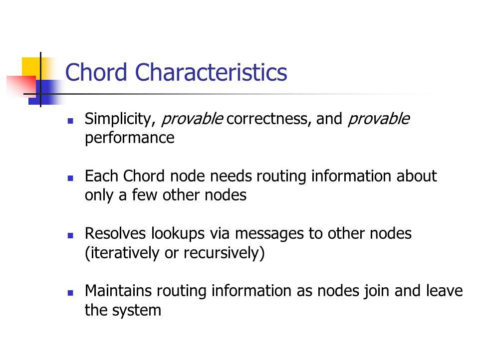 Chord Characteristics