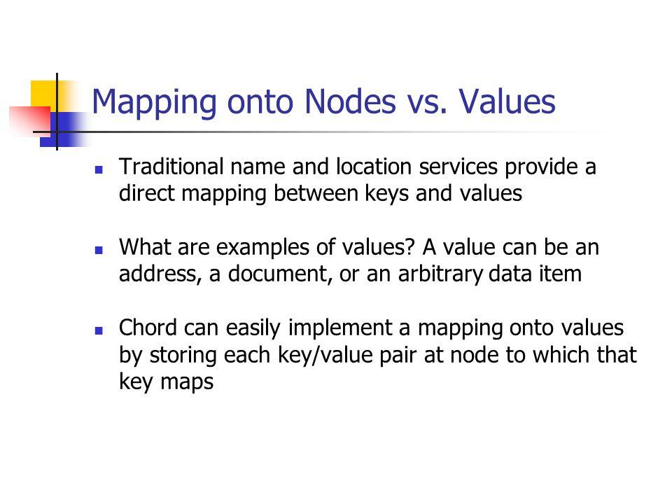 Mapping onto Nodes vs. Values