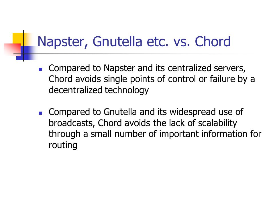 Napster, Gnutella etc. vs. Chord