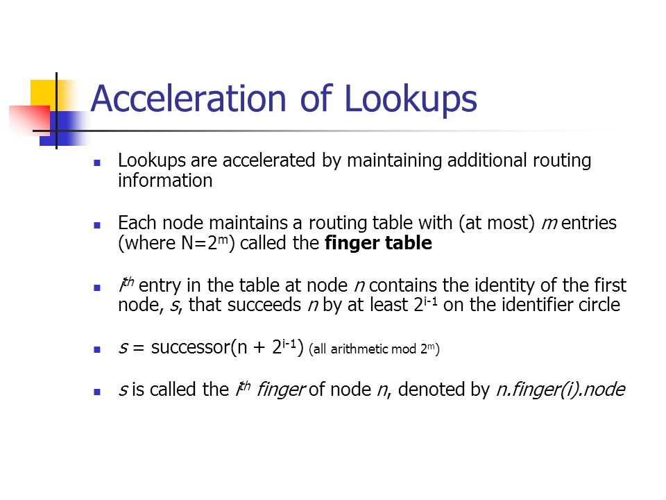 Acceleration of Lookups