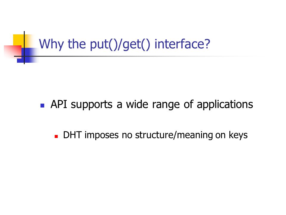 Why the put()/get() interface