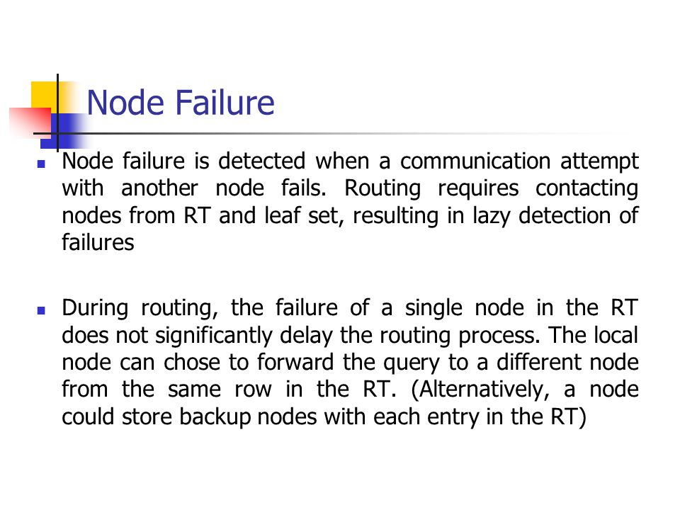Node Failure