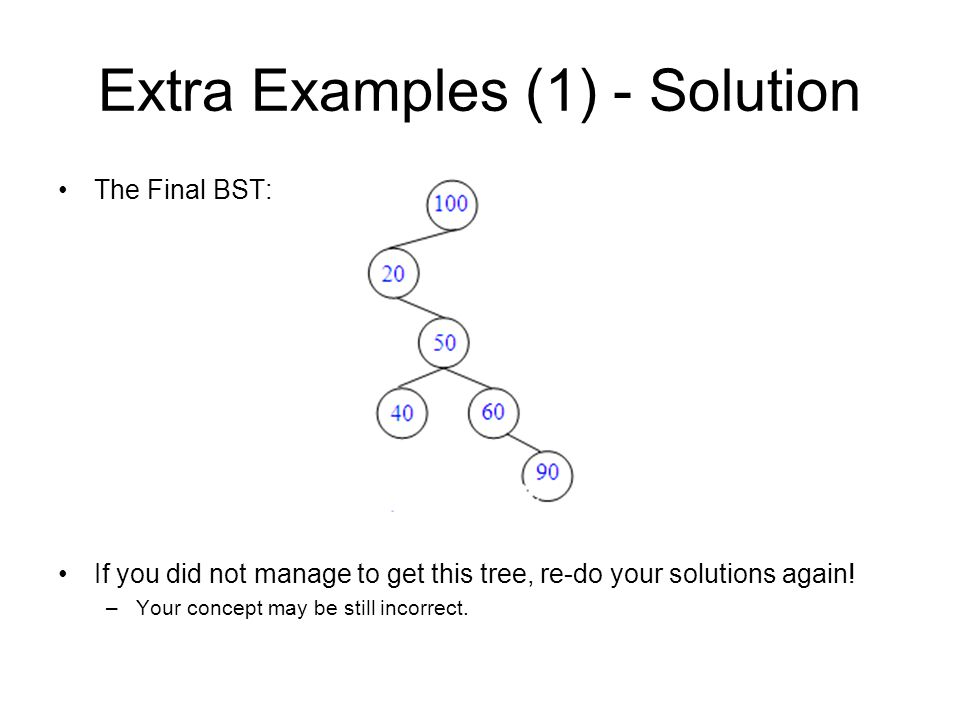Extra Examples (1) - Solution