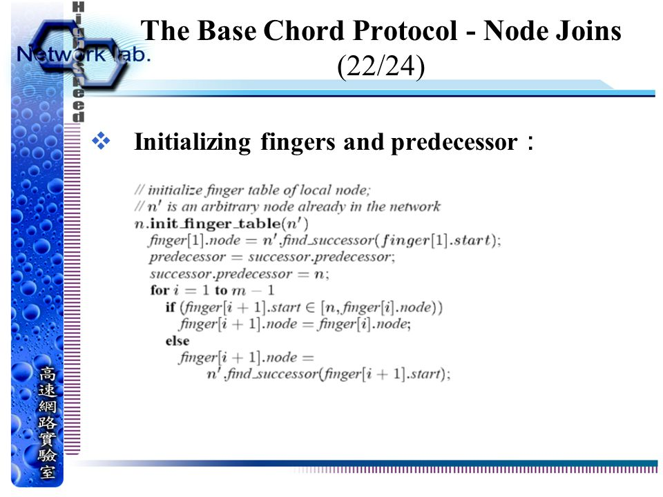 The Base Chord Protocol - Node Joins (22/24)