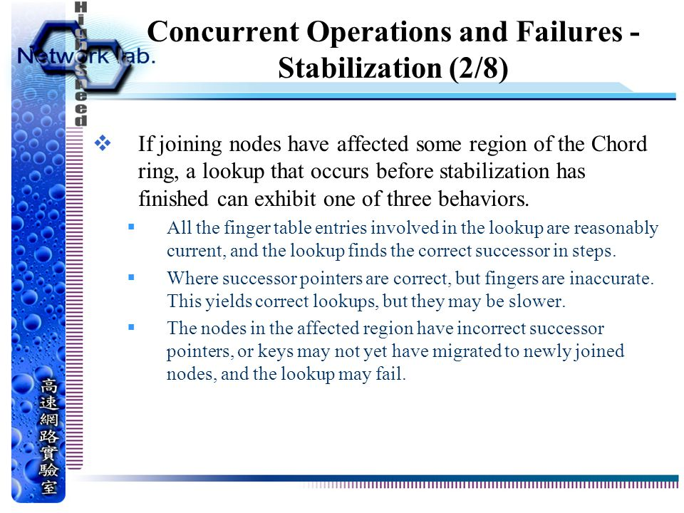 Concurrent Operations and Failures - Stabilization (2/8)