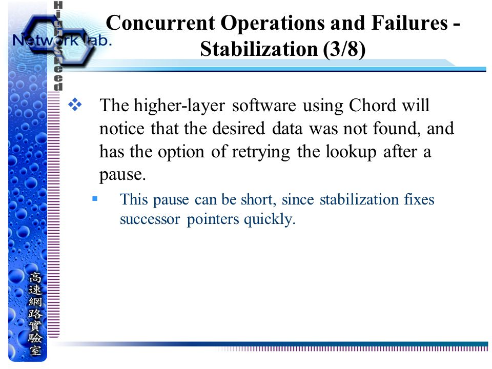 Concurrent Operations and Failures - Stabilization (3/8)