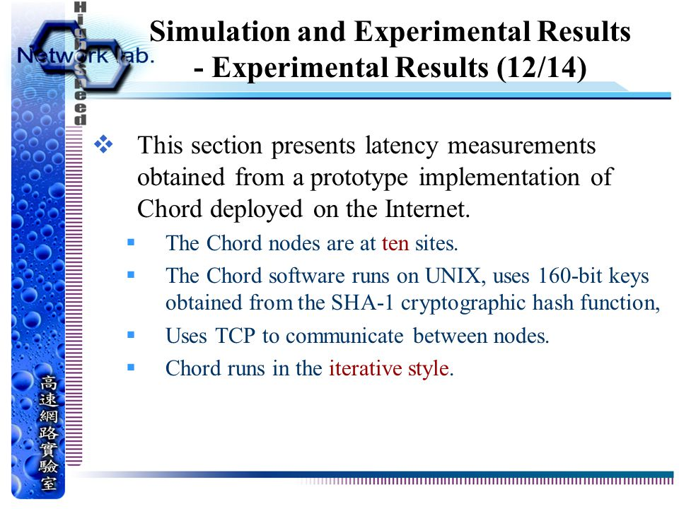 Simulation and Experimental Results - Experimental Results (12/14)