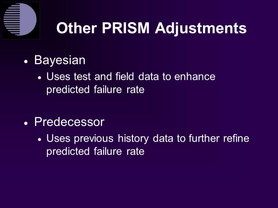 Other PRISM Adjustments
