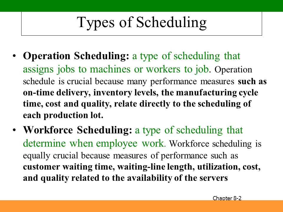 Types of Scheduling