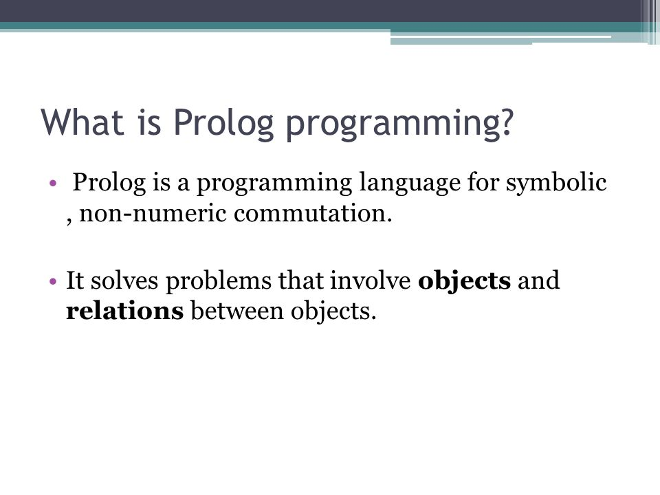 What is Prolog programming