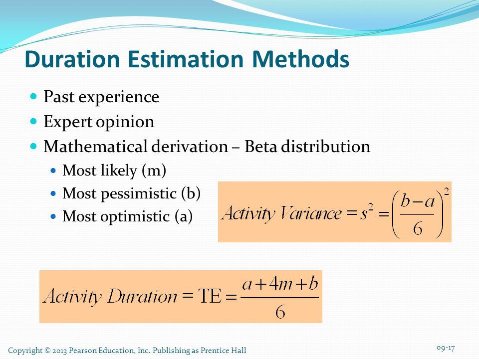 Duration Estimation Methods