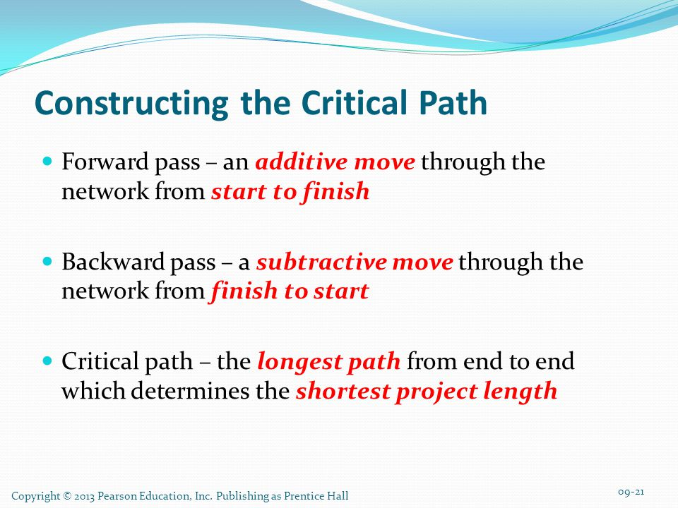 Constructing the Critical Path