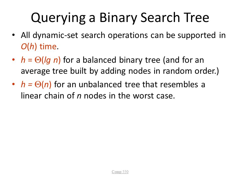 Querying a Binary Search Tree