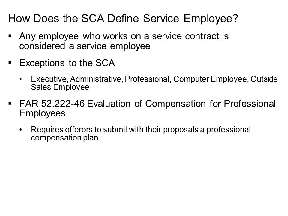 How Does the SCA Define Service Employee