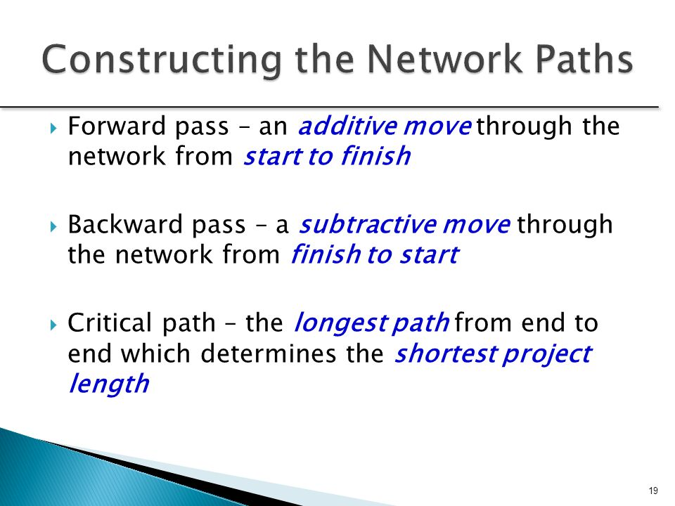 Constructing the Network Paths
