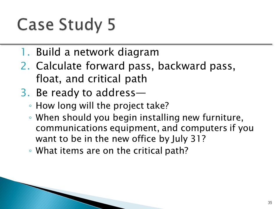 Case Study 5 Build a network diagram