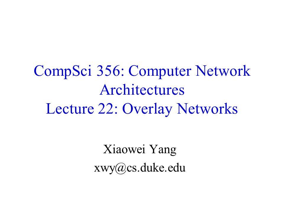 Xiaowei Yang xwy@cs.duke.edu