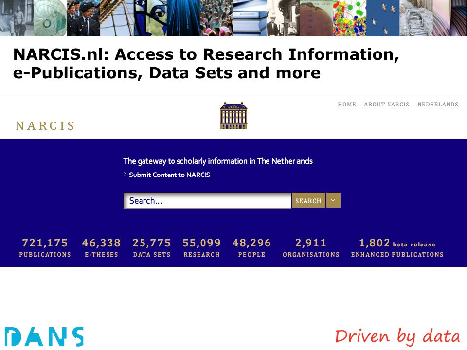 NARCIS.nl: Access to Research Information, e-Publications, Data Sets and more