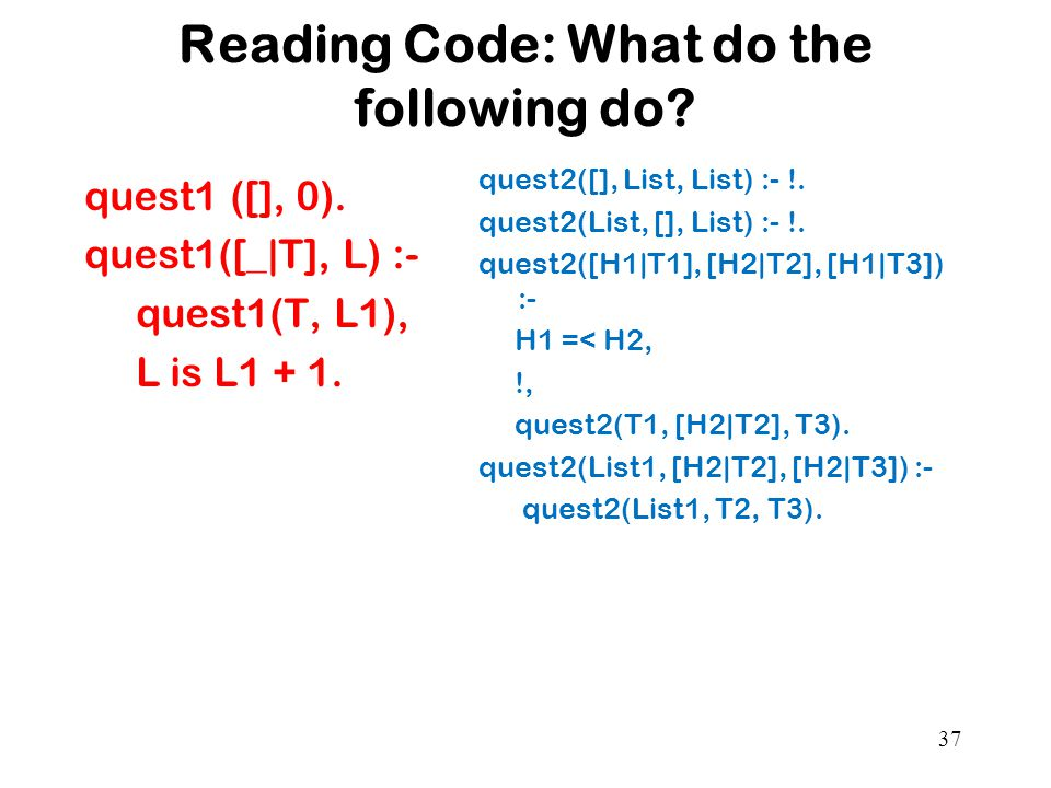 Reading Code: What do the following do