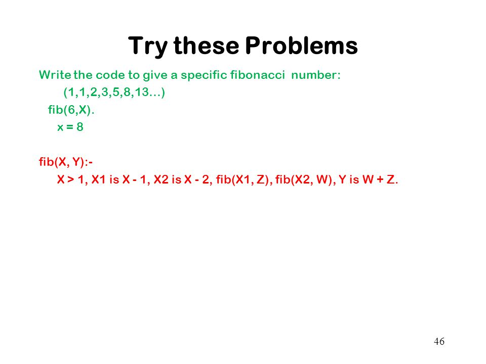 Try these Problems